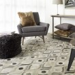 Product Image of Winter White, Camel, Brindle Contemporary / Modern Area Rug