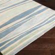 Product Image of Bright Blue, Sage, Beige Striped Area Rug