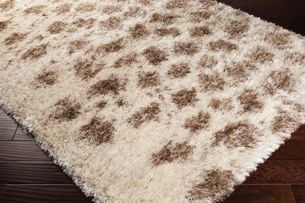 Cream, Beige, Dark Brown, Wheat Animals / Animal Skins Area Rug