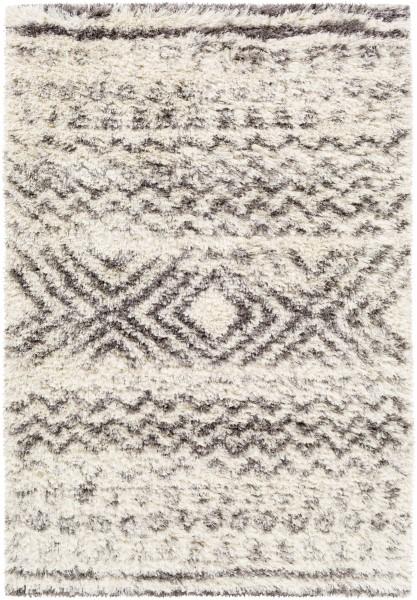 Cream, Grey, Charcol, Dark Brown (RHA-1034) Shag Area Rug