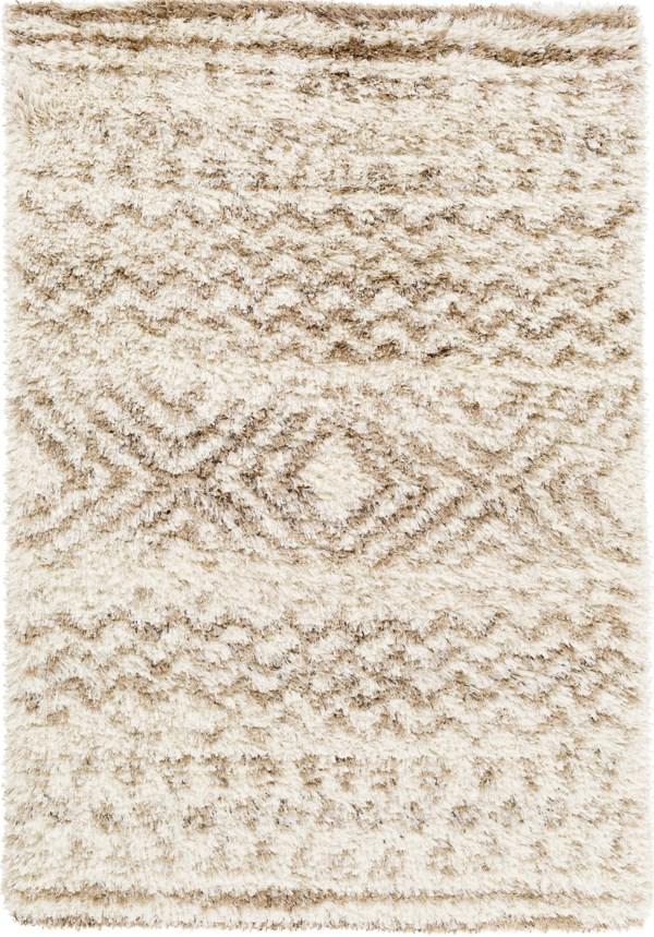 Cream, Wheat, Taupe, Dark Brown (RHA-1035) Shag Area Rug