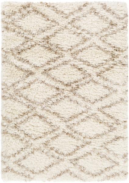 Cream, Wheat, Taupe, Dark Brown (RHA-1037) Shag Area Rug