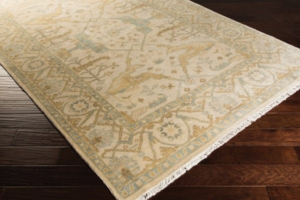 Beige, Moss, Lime, Gray Traditional / Oriental Area Rug