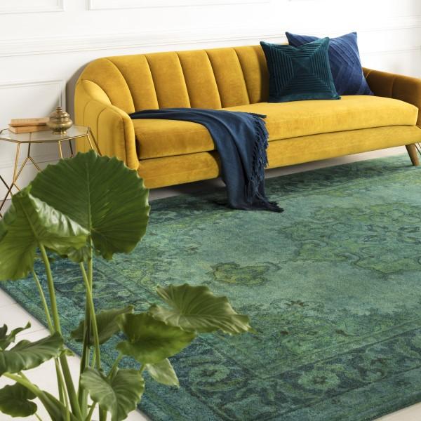 Olive, Teal, Sage, Emerald Traditional / Oriental Area Rug