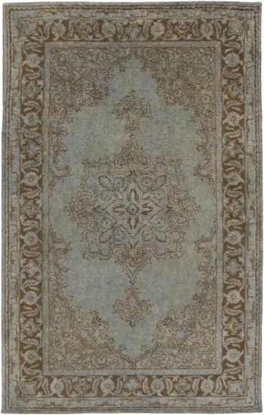 Light Gray, Khaki, Charcoal Traditional / Oriental Area Rug