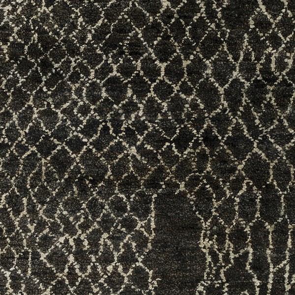Black, Khaki, Dark Brown Transitional Area Rug
