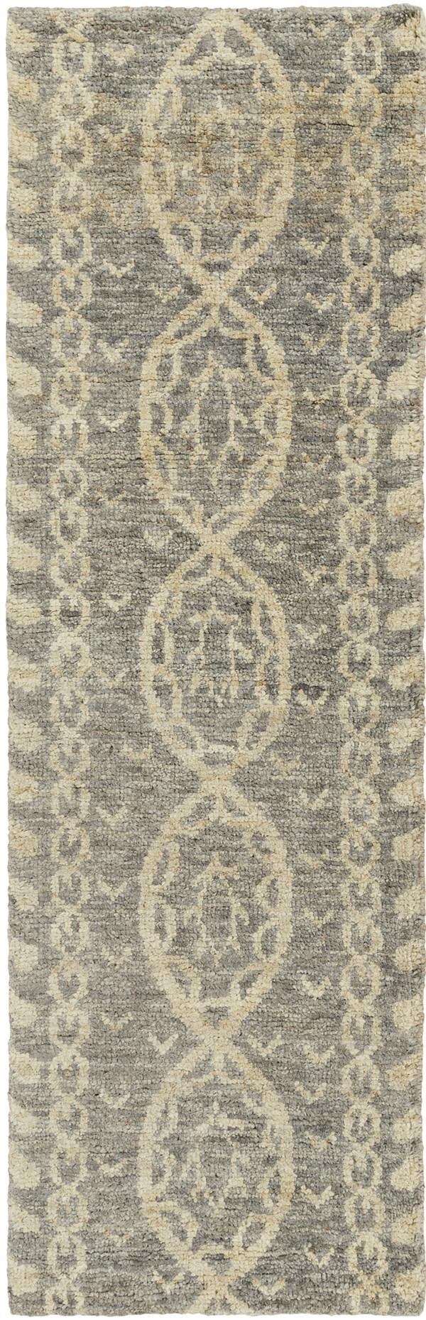 Medium Gray, Dark Brown, Khaki Transitional Area Rug