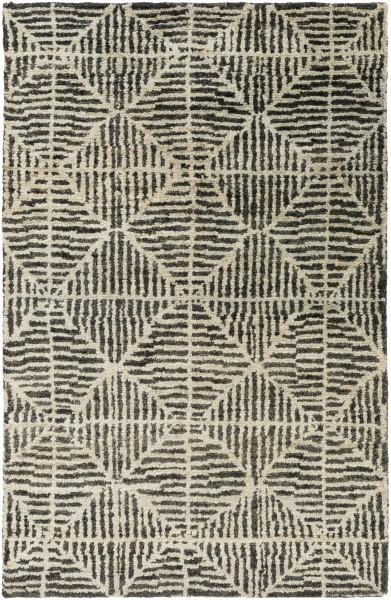 Black, Khaki, Dark Brown Contemporary / Modern Area Rug
