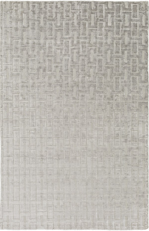 Light Gray Textured Solid Area Rug