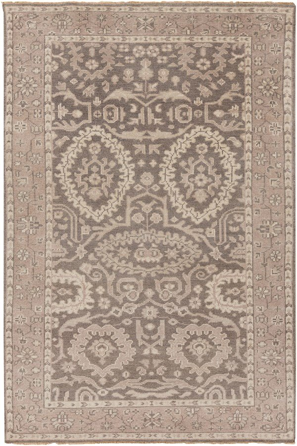 Beige, Taupe, Charcoal Traditional / Oriental Area Rug