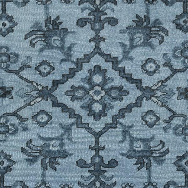 Slate, Black, Teal Traditional / Oriental Area Rug