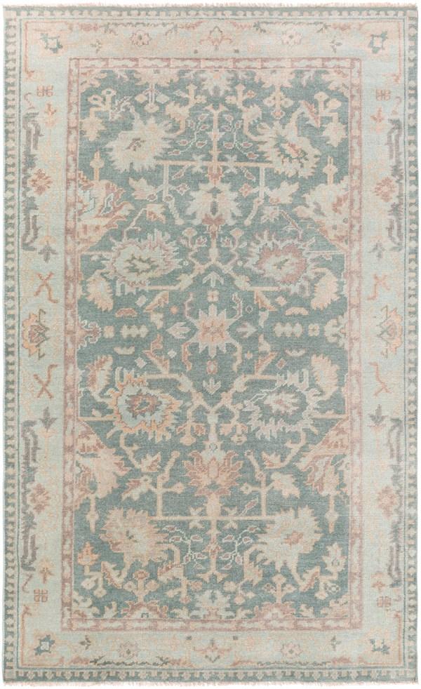 Medium Gray, Mint, Taupe Traditional / Oriental Area Rug