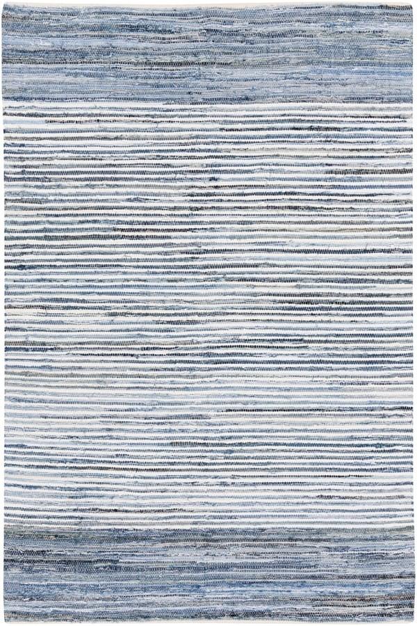Sky Blue, Cobalt Striped Area Rug