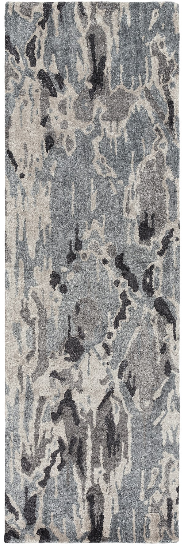 Charcoal, Black, Taupe Contemporary / Modern Area Rug