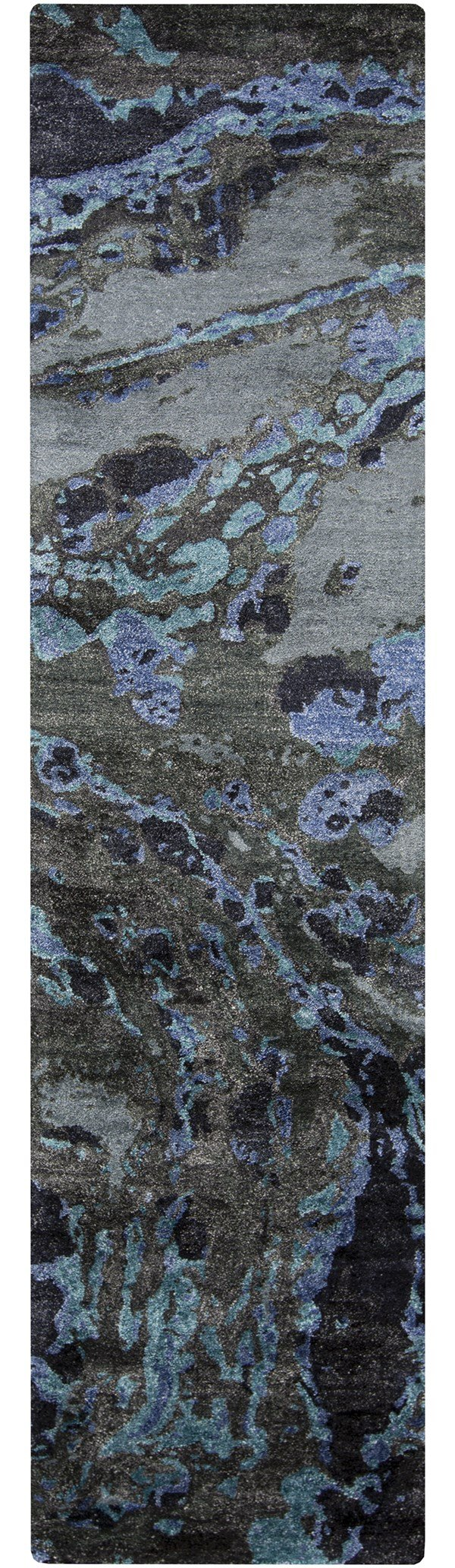 Charcoal, Teal, Cobalt Transitional Area Rug