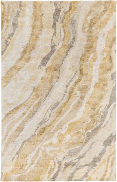 Ivory, Butter, Gold, Olive Transitional Area Rug
