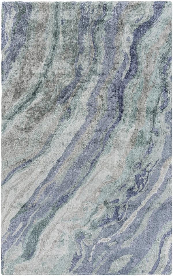 Mint, Teal, Sky Blue, Moss Transitional Area Rug