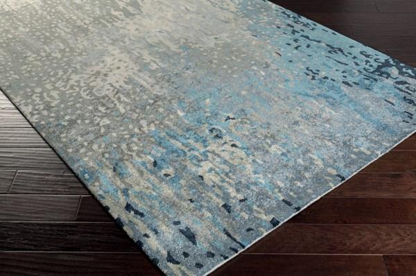 Teal, Sage, Dark Blue, Navy (SRD-2004) Abstract Area Rug