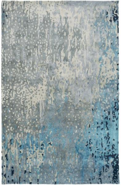 Teal, Sage, Dark Blue (SRD-2004) Abstract Area Rug