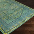 Product Image of Teal, Lime, Olive, Dark Blue, Aqua Traditional / Oriental Area Rug