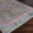 Product Image of Charcoal, Teal, Bright Pink, Aqua, Light Gray Traditional / Oriental Area Rug