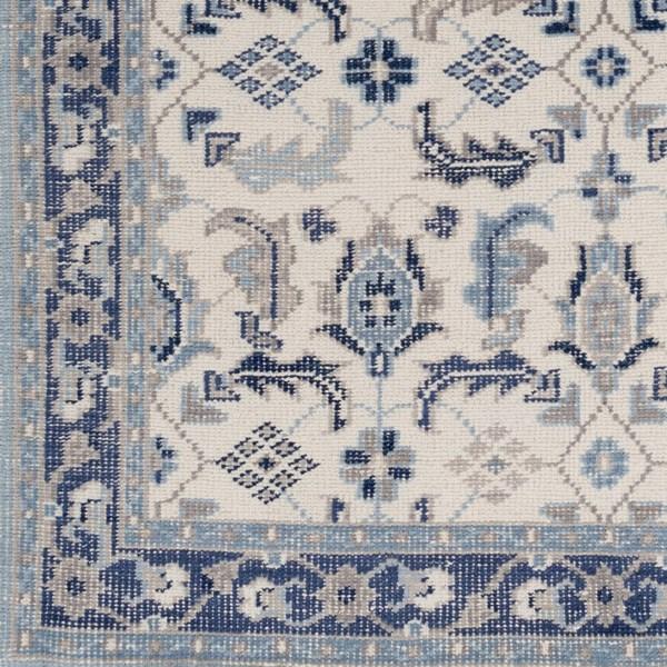 Khaki, Navy, Denim, Taupe, Charcoal Traditional / Oriental Area Rug