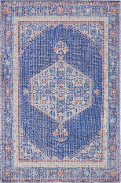 Dark Blue, Bright Red, Mauve, Camel Denim, Khaki Traditional / Oriental Area Rug
