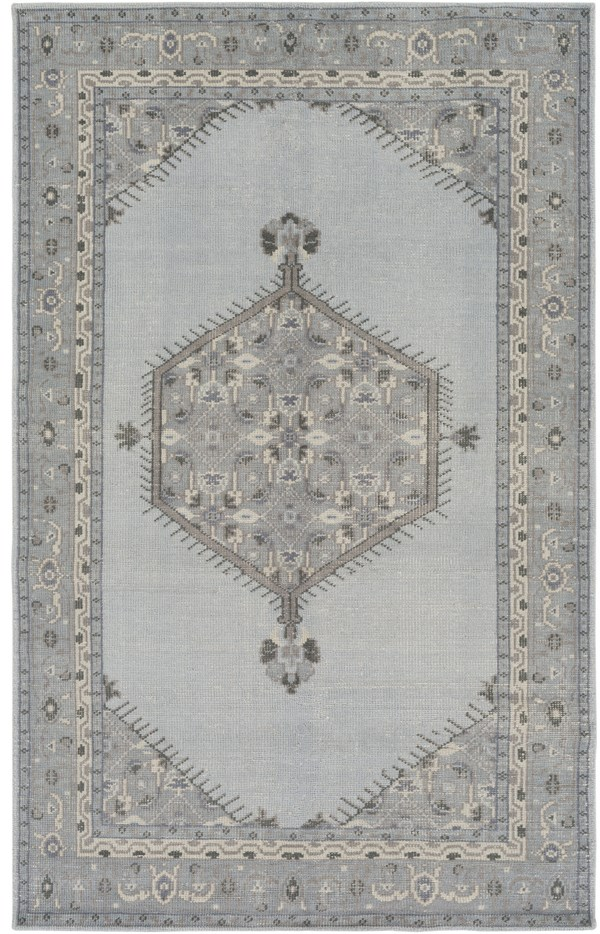 Light Gray, Taupe, Charcoal, Black, Violet Traditional / Oriental Area Rug
