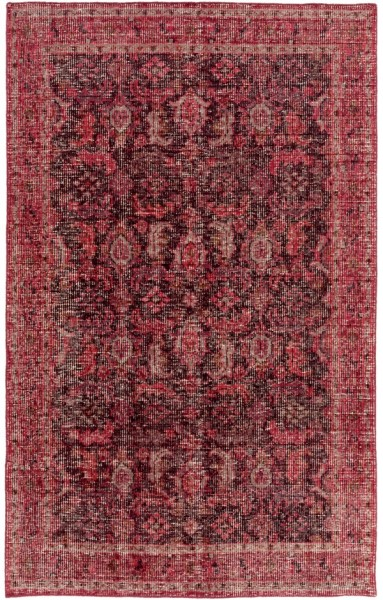 Dark Brown, Dark Red, Garnet, Camel, Rust Traditional / Oriental Area Rug