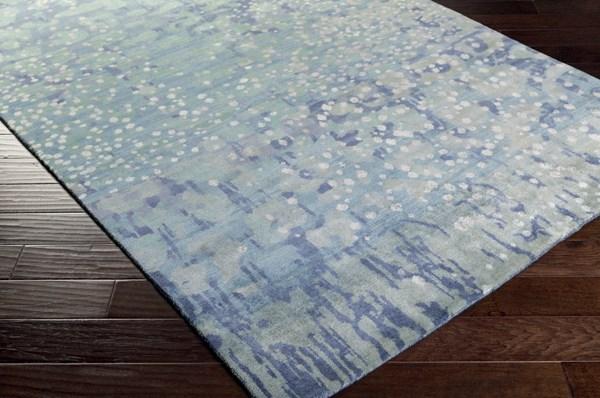 Sky Blue, Sea Foam, Lime, Light Gray, Navy Contemporary / Modern Area Rug