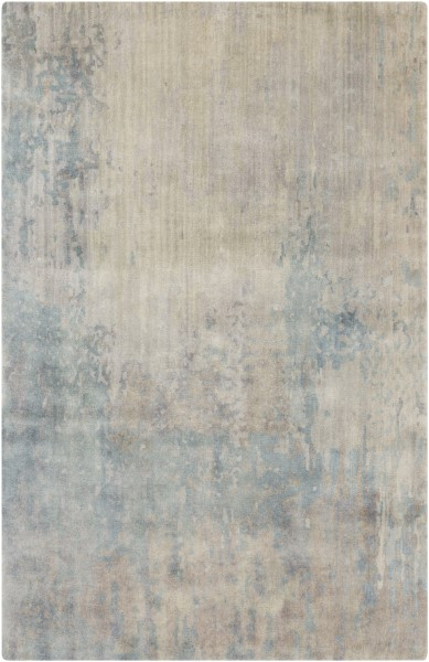 Denim, Ivory, Camel Contemporary / Modern Area Rug