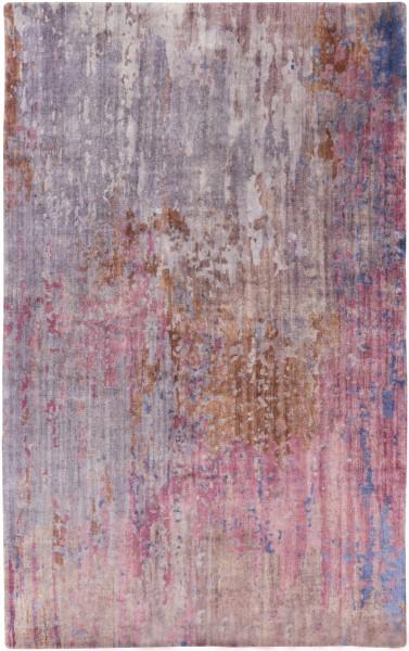 Dark Purple, Medium Gray, Lilac, Mauve Abstract Area Rug