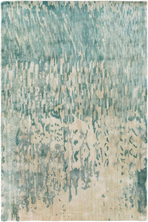 Teal, Sage, Light Gray, Aqua, Khaki Transitional Area Rug