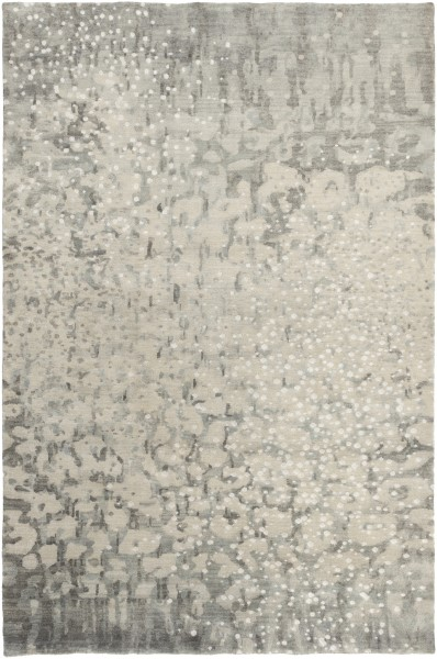 Charcoal, Light Grey, Ivory Contemporary / Modern Area Rug