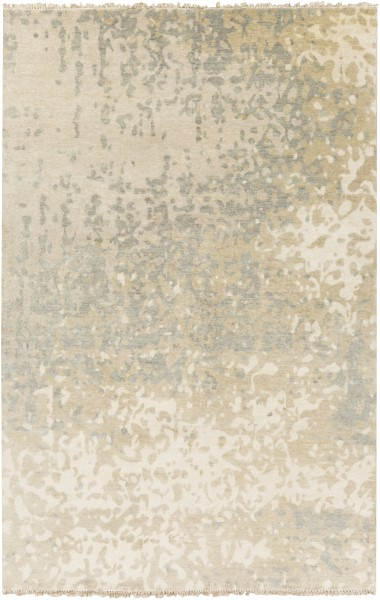 Ivory, Light Gray, Khaki Transitional Area Rug