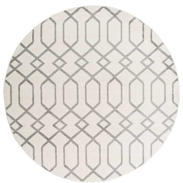 Ivory, Gray Moroccan Area Rug