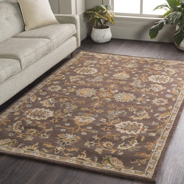 Brown (AWMD-1002) Traditional / Oriental Area Rug