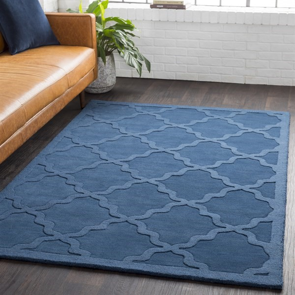 Blue (AWHP-4018) Solid Area Rug