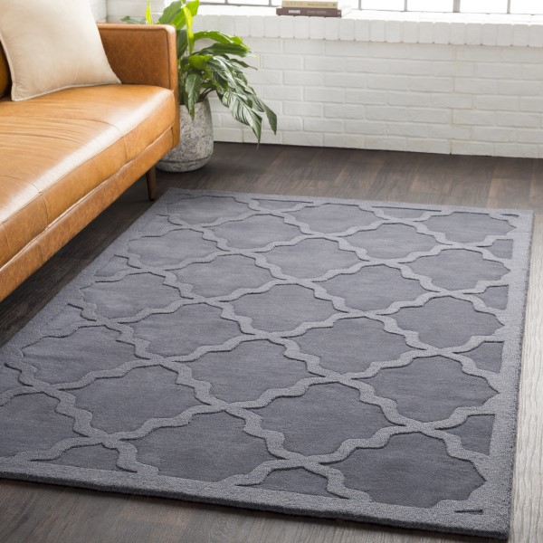 Charcoal (AWHP-4023) Solid Area Rug