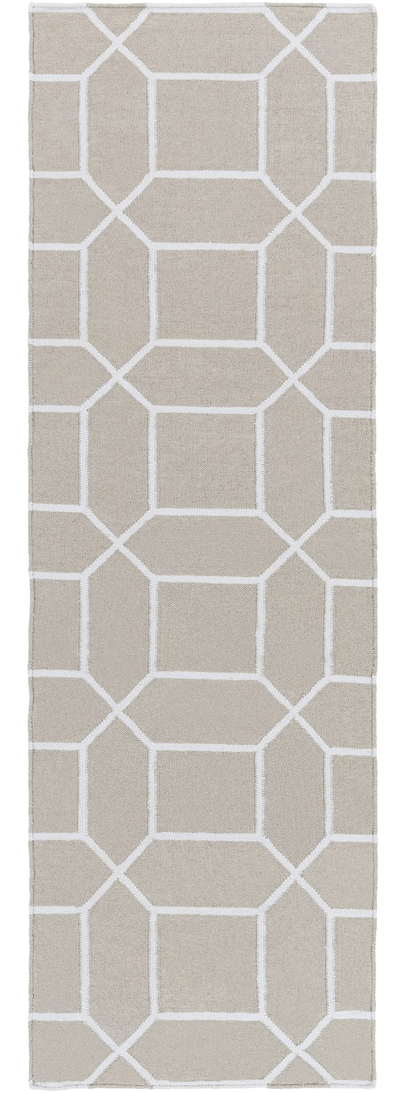Ivory, White Moroccan Area Rug
