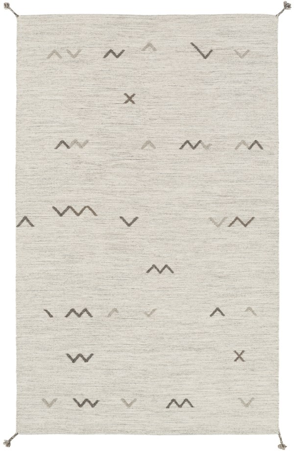 Light Gray, Taupe, Gray Southwestern / Lodge Area Rug