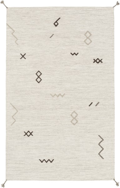 Light Gray, Taupe Moroccan Area Rug