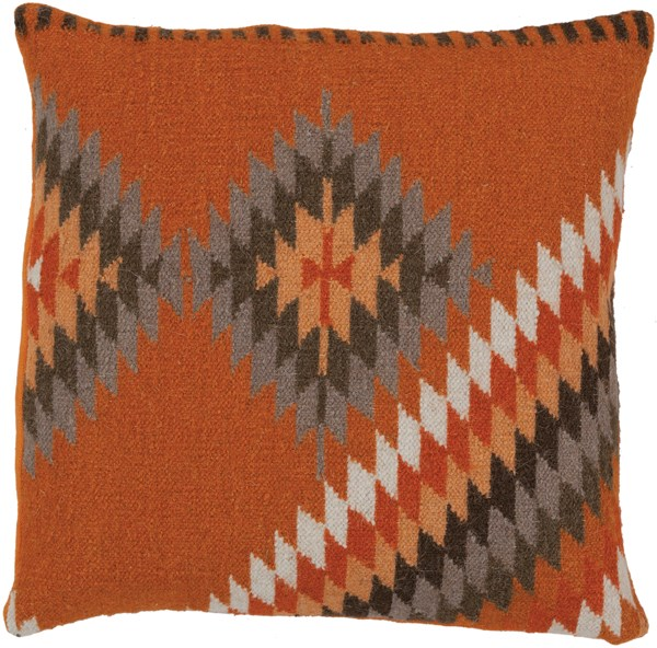 Burnt Orange, Tan, Olive, Taupe (LD-037) Southwestern / Lodge pillow