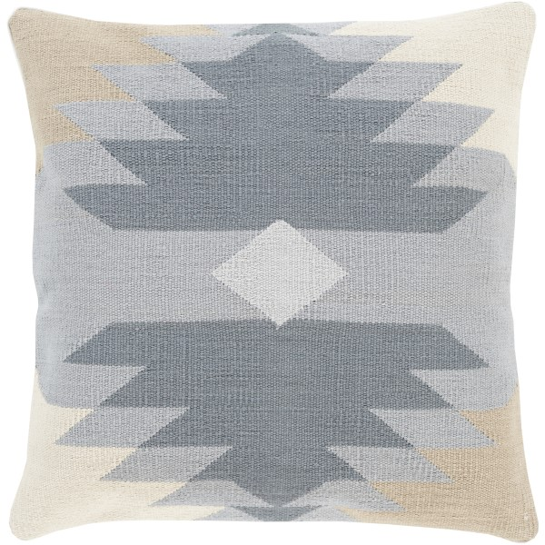 Charcoal, Light Gray, Olive, Beige (CK-005) Southwestern pillow