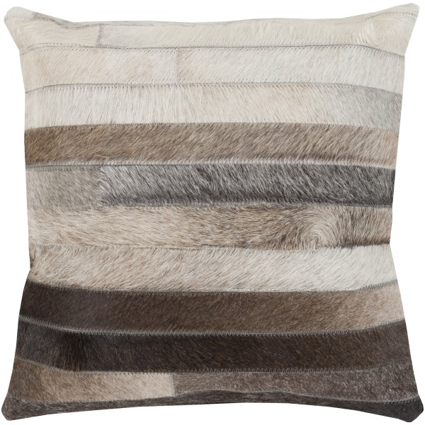 Charcoal, Beige, Taupe, Light Gray (TR-002) Striped pillow