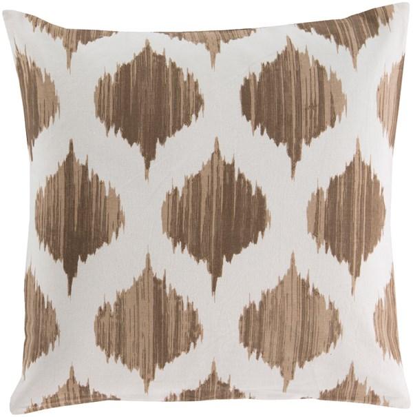Mocha, Ivory (SY-018) Moroccan pillow