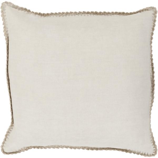 Beige, Ivory (EL-007) Solid pillow