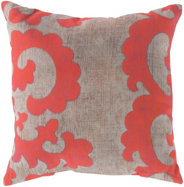 Coral, Beige (RG-019) Outdoor / Indoor pillow