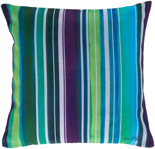 Teal, Aqua, Iris, Ivory (RG-033) Outdoor / Indoor pillow
