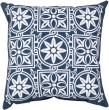Product Image of Outdoor / Indoor Cobalt, Ivory (RG-175) pillow